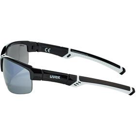 UVEX Sportstyle 226 Glasses, black white/ltm. silver